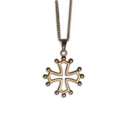 Croix Occitane plaquée or (Parure : pendentif + chaîne)