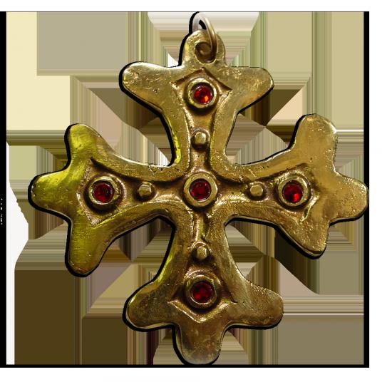 Croix occitane pendentif by Paul Vitaux